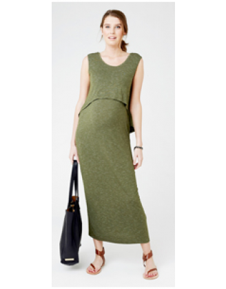 Ripe Maternity Green Swing Back Maxi Dress